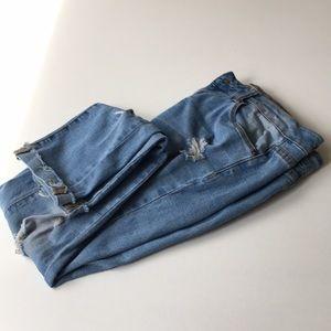 Jeans ENCORE sz 7/S ripped boyfriend  style